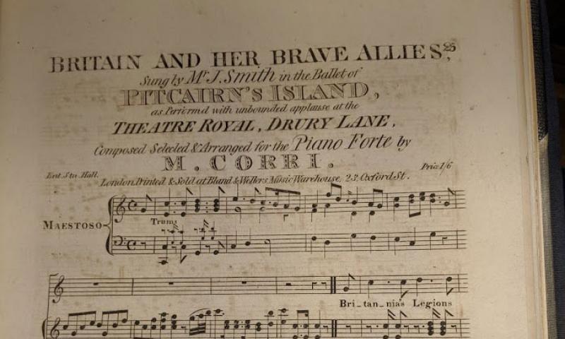 1816 Sheet Music