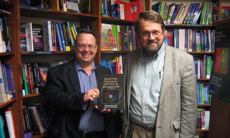 Professors Michael Westmoreland (left) and Benjamin Schumacher (right)