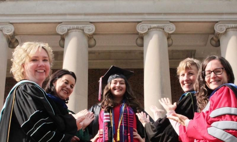 Kristen Ago with professors