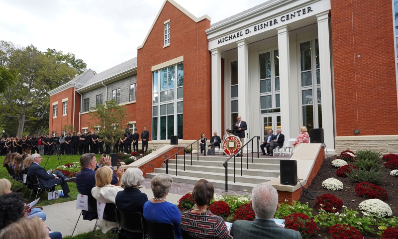 Dedication ceremony for the Michael D. Eisner Center for the performing arts