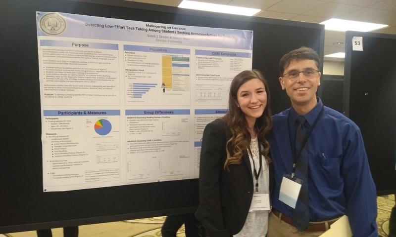 Student and Prof. Robert Weis at Midwestern Psychological Association conference