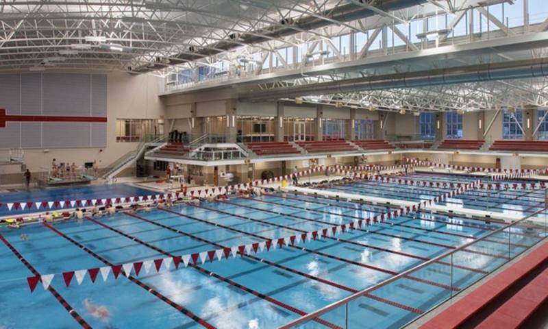 Trumbull aquatics pool in Mitchell center at Denison University