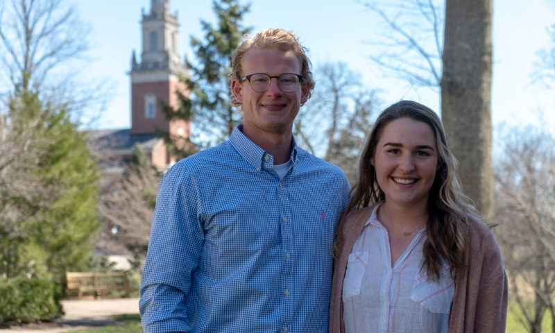 Andrew Ferguson '19 and Rachel Reardon '19