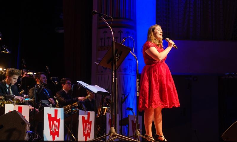 Rachel Azbell '19 with the Columbus Jazz Orchestra