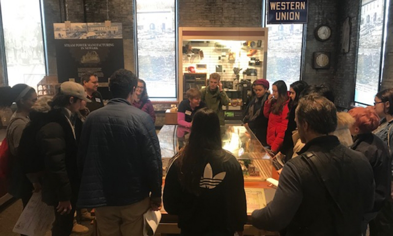 Students at The Works museum in Newark