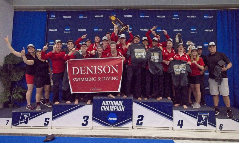 Denison Men's Swimming and Diving Team 2019