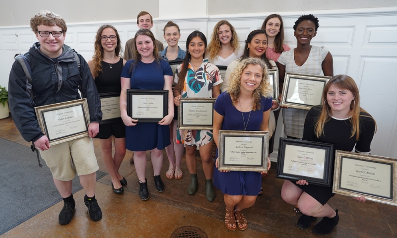 Denison students with international scholarships, fellowships and awards