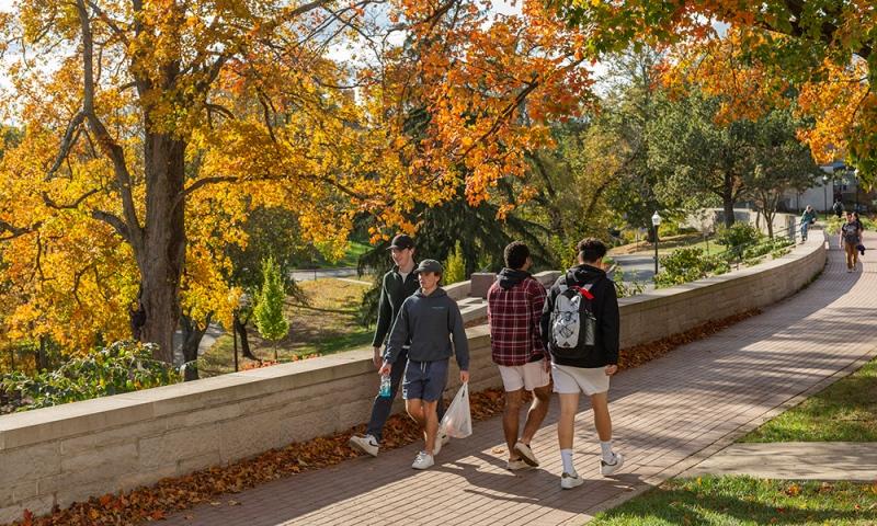 Denison students on Chapel Walk