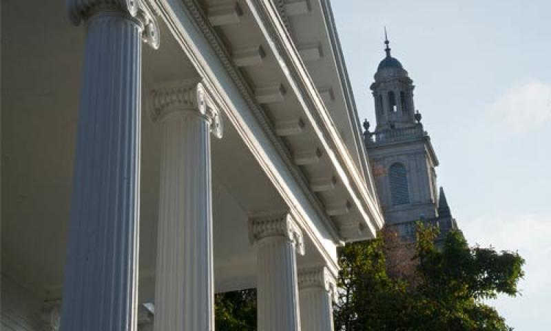 Denison Admissions Office and Swasey Chapel