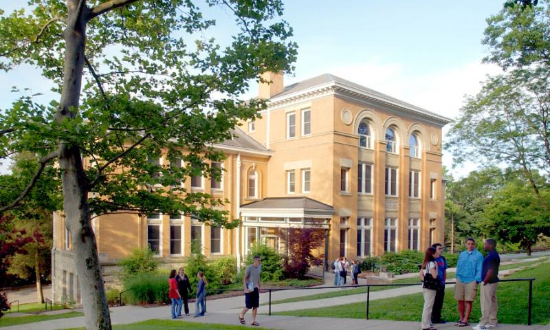 Barney-Davis Hall on Denison's Academic Quad