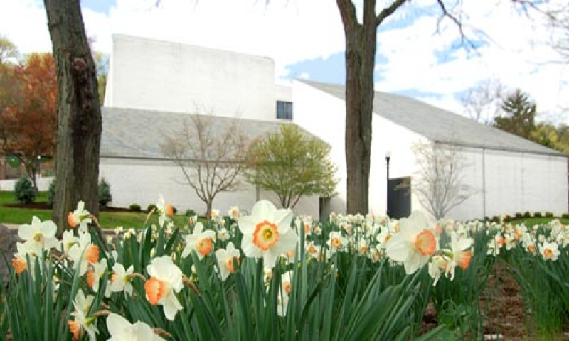 Photo of Burke Hall in spring