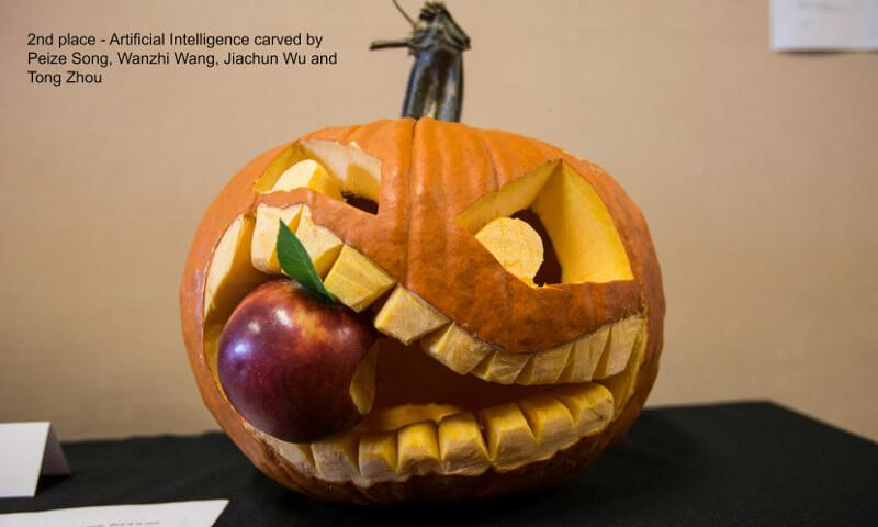 Second Place Winner pumpkin carving contest