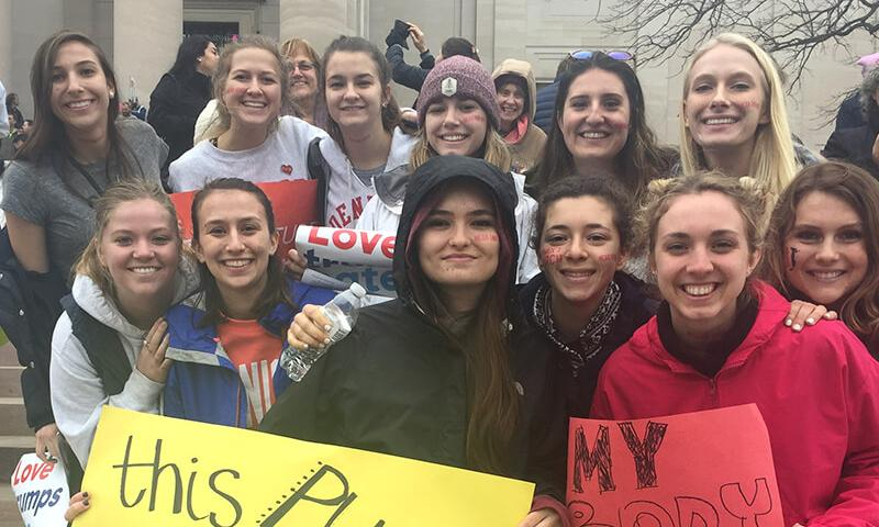 Denison at the Women's March