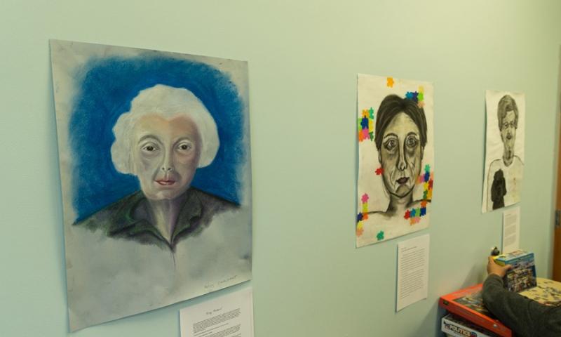 3 pieces of art work at Flint Ridge Nursing and Rehabilitation Center