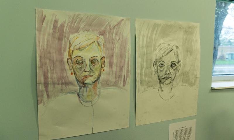 2 pieces of art work at Flint Ridge Nursing and Rehabilitation Center