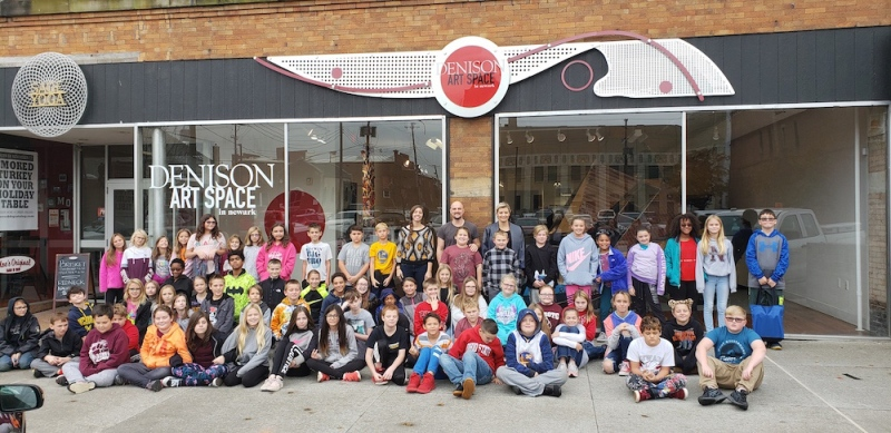 Group photo in front of the Denison Art Space