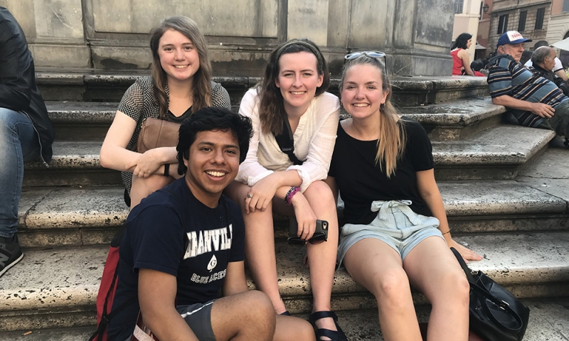 Denison students in Rome