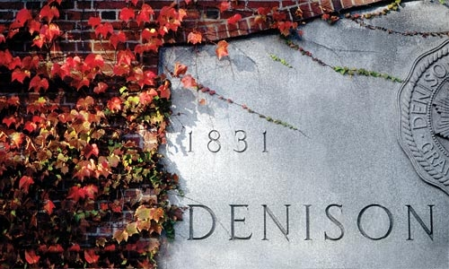 A photo of the Denison Anniversary Stone