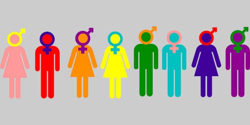 Symbols depicting all genders