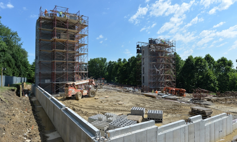 Silverstein Hall construction