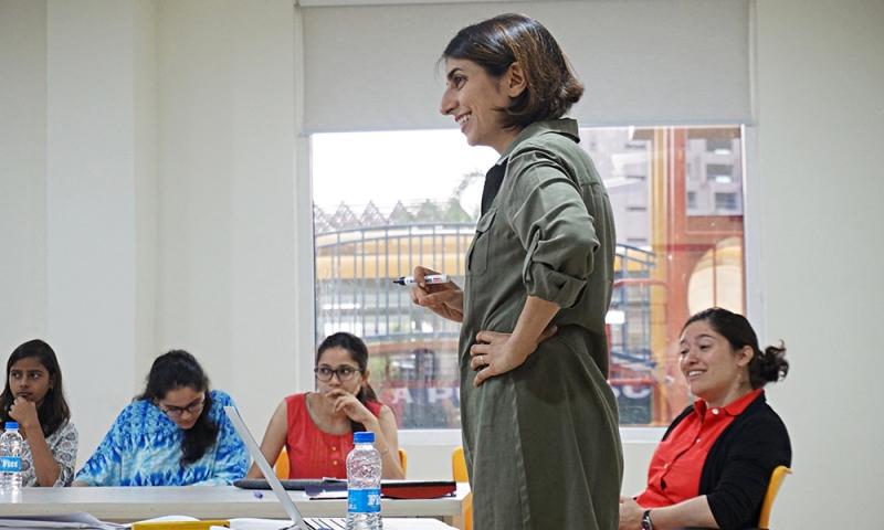 Professor teaching