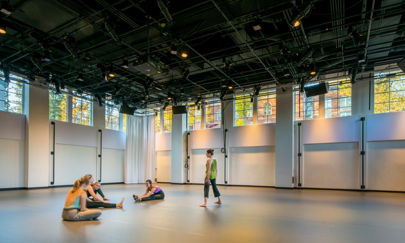 Thorsen Dance Studio (Credit: Courtesy of DLR Group | Westlake Reed Leskosky; Kevin G. Reeves Photographer)