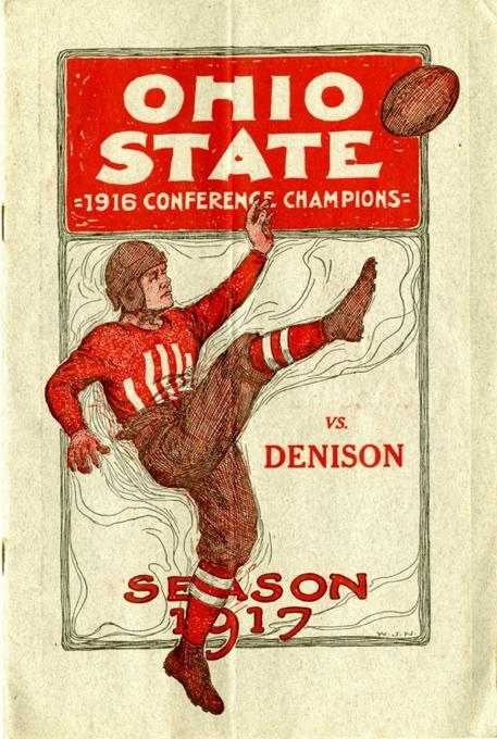 Ohio State football poster for the 1917 season