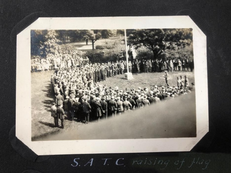 S.A.T.C raising of the flag