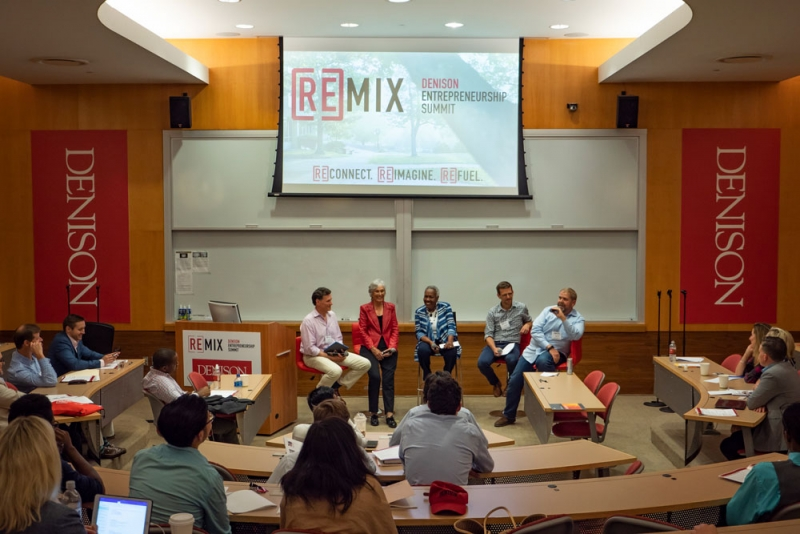 Panel of speakers at Remix