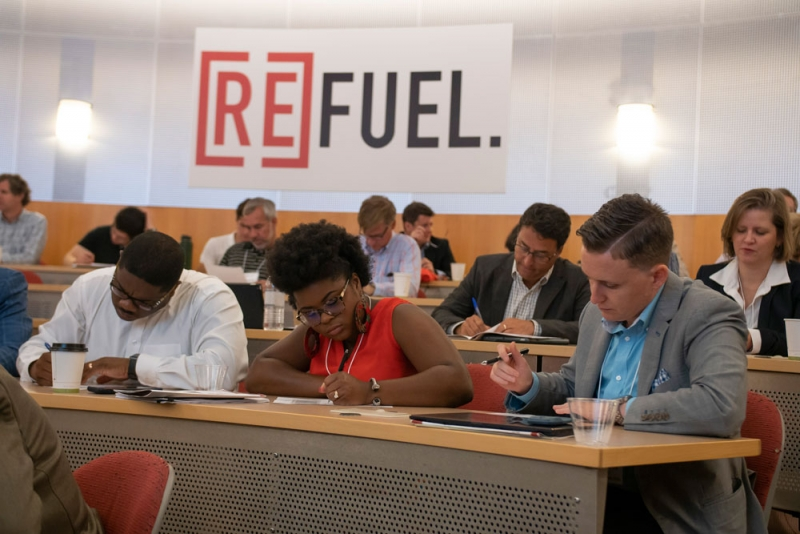 Group of students at Remix conference