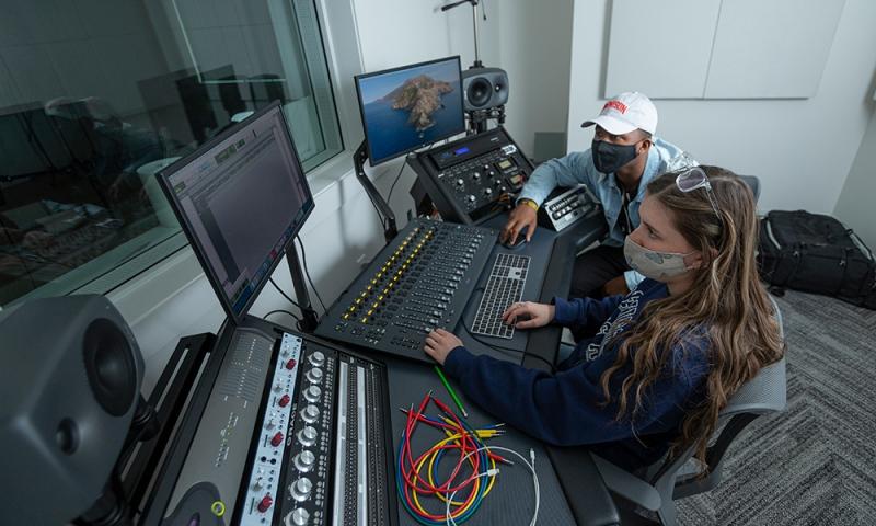 Students in the Recording Studio