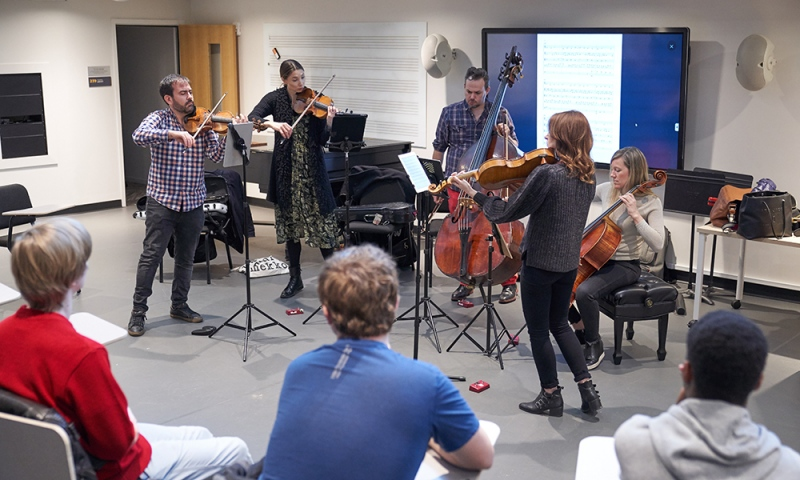 Medium Rehearsal Space: Sybarite5 during their TUTTI residency