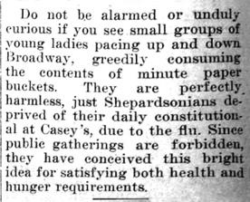 """Newspaper clipping: """"Do not be alarmed if..."""""""