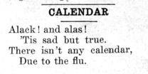 "Newspaper clipping: ""Calendar entry 1"""