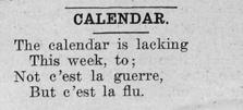 "Newspaper clipping: ""Calendar entry 2"""