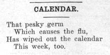 "Newspaper clipping: ""Calendar entry 3"""