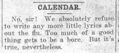 "Newspaper clipping: ""Calendar entry 4"""