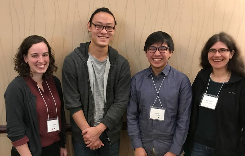 Pictured from left to right: Janie Frandsen, Yow Yong Tan, Edric Choi, Dr. Rachel Mitton-Fry