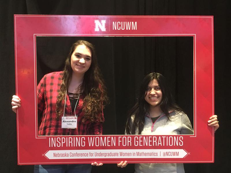 Alexandra Tubbs ('20) and Gaby Pleitez-Gomez ('20) at the 20th Annual Nebraska Conference for Undergraduate Women in Mathematics