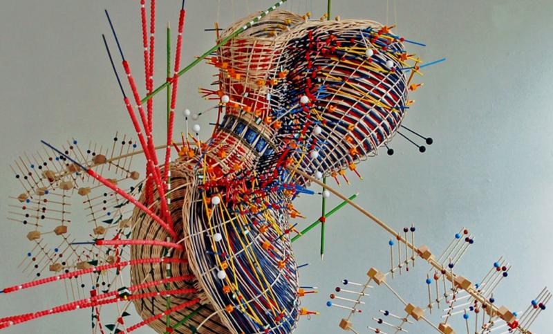 Nathalie Miebach sculpture