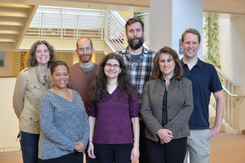 Sam Cowling with other tenured professors
