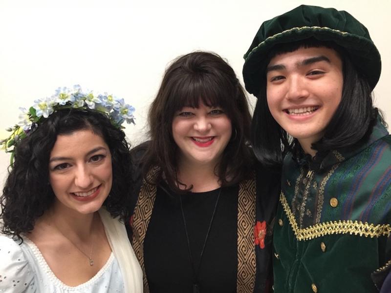 Meg Odell '19, Belinda Andrews-Smith, and Sam Fujikawa '22