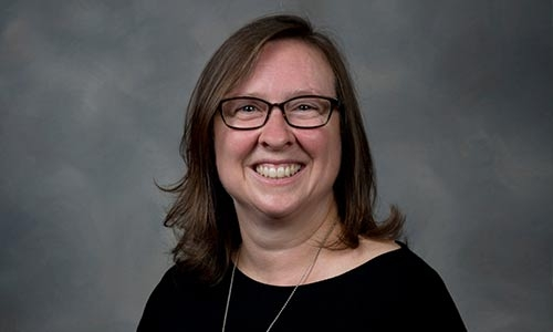 A photo portrait of Rebecca Todd Peters
