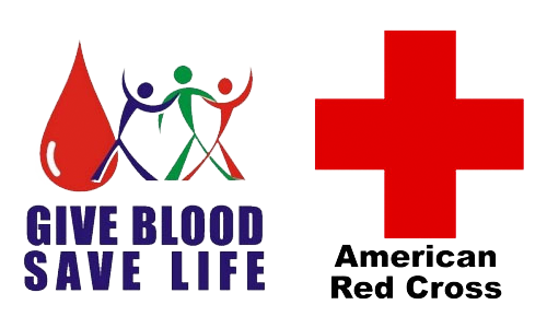 Give Blood, Save Life, Red Cross Logo