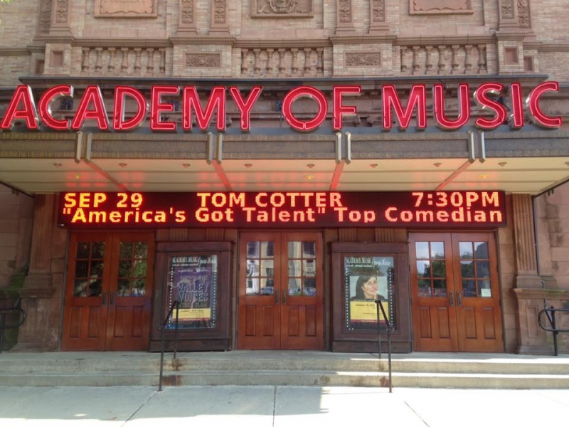 front of the academy of music