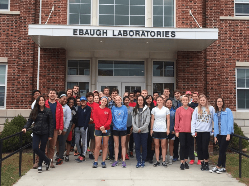 group photo in front of ebaugh
