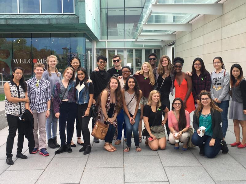 group of denison students in columbus