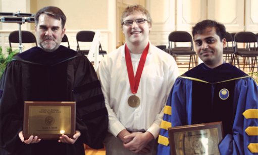 Dr. Havill, Dr. Lall, and Nat Kell '13 Honored at the 2013 Academic Awards Convocation