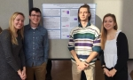 Psychology researchers Marcos Arnett '20, Hope Cherubini '21, Andrew Kopco '20, and Anna Stone '21