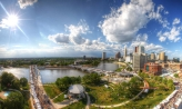 Wide angle view of columbus